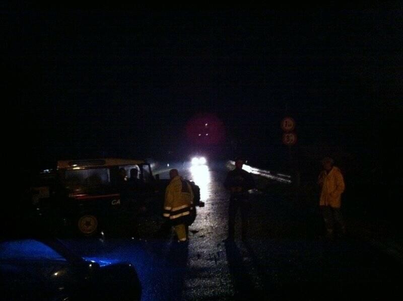 Le forze di polizia chiudono l'accesso al Ponte della Colombiera
