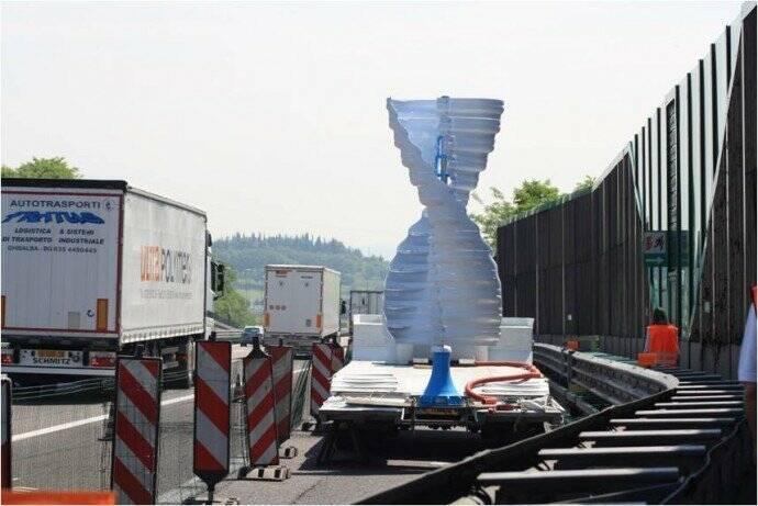 La prima turbina del progetto SerVento