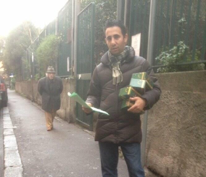 Lega Nord, distribuzione di presepi