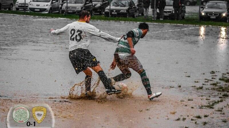 Il terreno di gioco del big match di II Serie Farafulla - Amatori Filattiera 0 - 1.