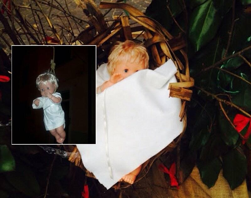 L'immagine del bambinello impiccato a Pitelli