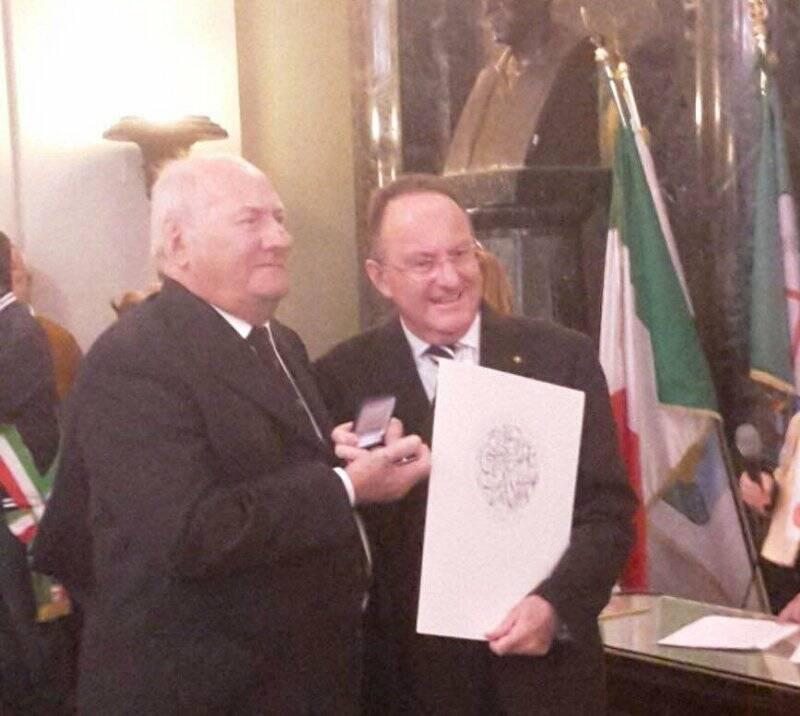 Ciro Domenichini e il prefetto Mario Lubatti