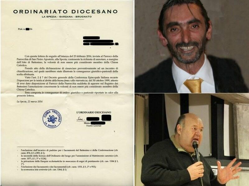Un certificato di sbattezzo, Cesare Bisleri e Nicola Caprioni
