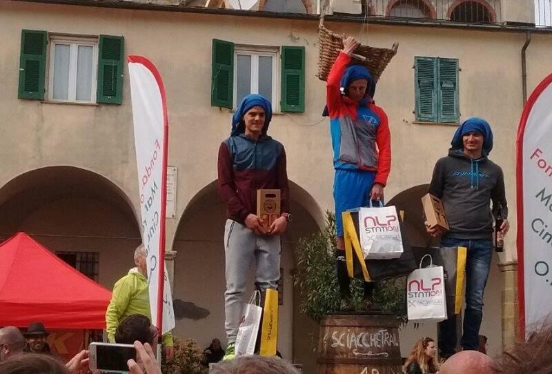Fulvio Dapit, Simone Corsini, Giovanni Parish. Sciacchetrail 2017