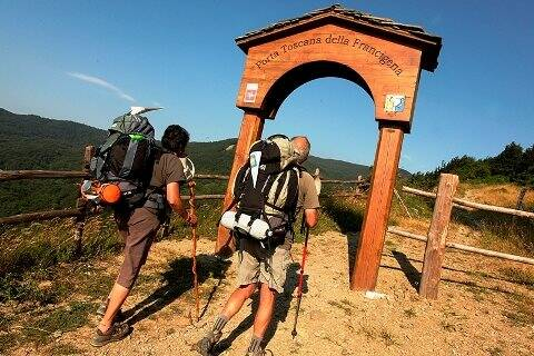 Passo della Cisa, Via Francigena, Massa Carrara Province, Toscana, Italia, Europa