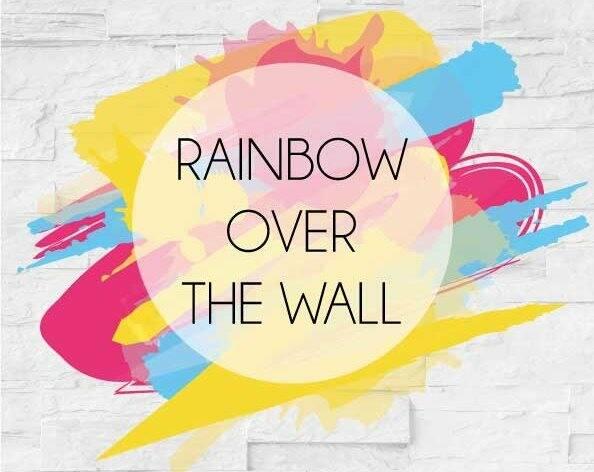 Rainbow over the wall
