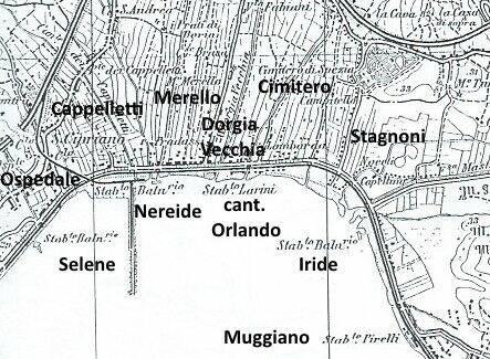 La collocazione degli stabilimenti e delle altre attività sulla costa di Levante