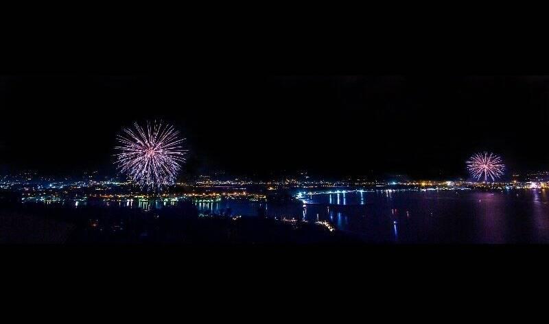 Fuochi d'artificio a Bocca di Magra e Marinella