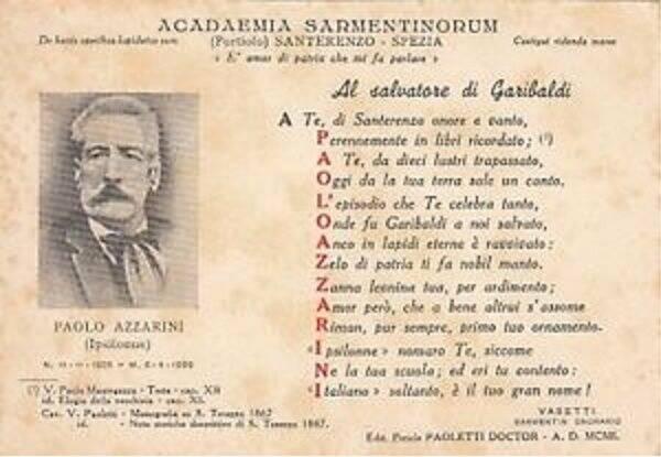 Il documento dedicato ad Azzarini