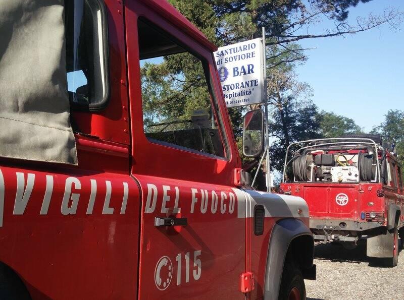 Il distaccamento dei Vigili del fuoco a Soviore