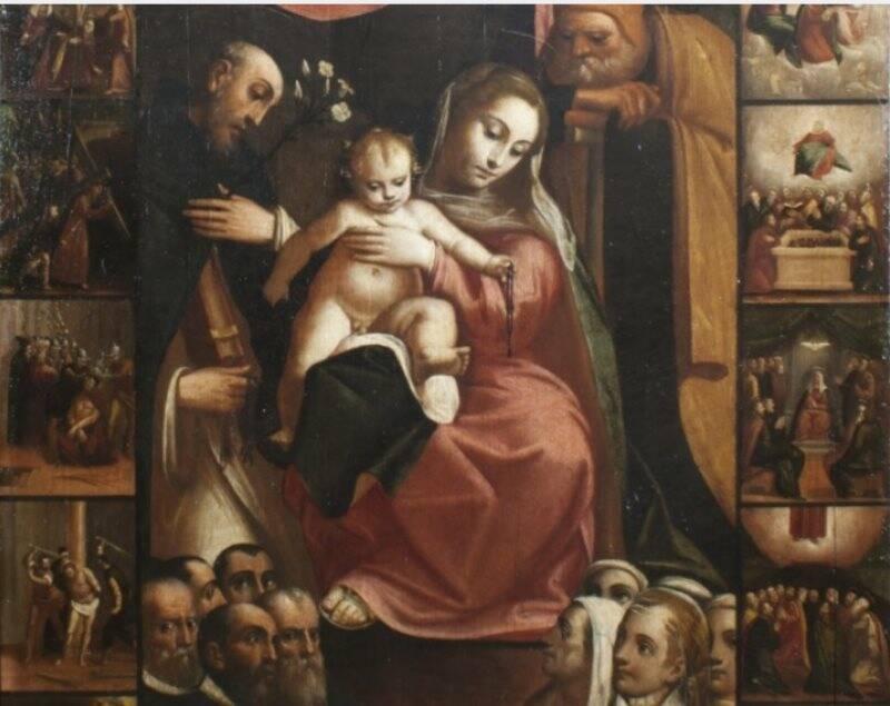 Madonna del Rosario, 1580, Monterosso al Mare, chiesa di S.Giovanni Battista.