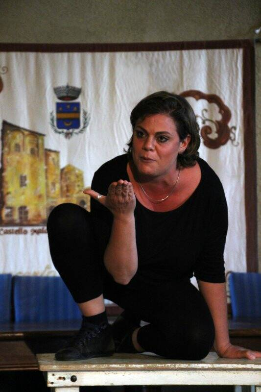 L'attrice Chiara Stoppa
