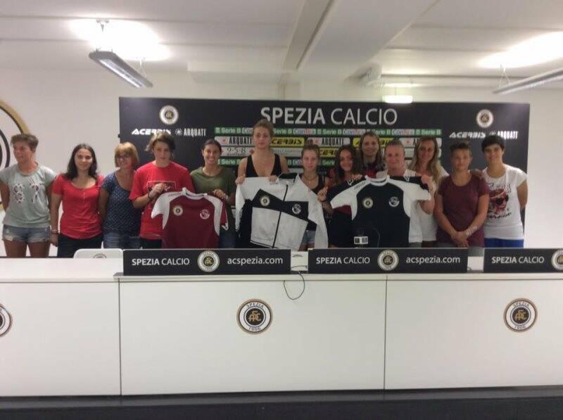 La presentazione dello Spezia Calcio Femminile.