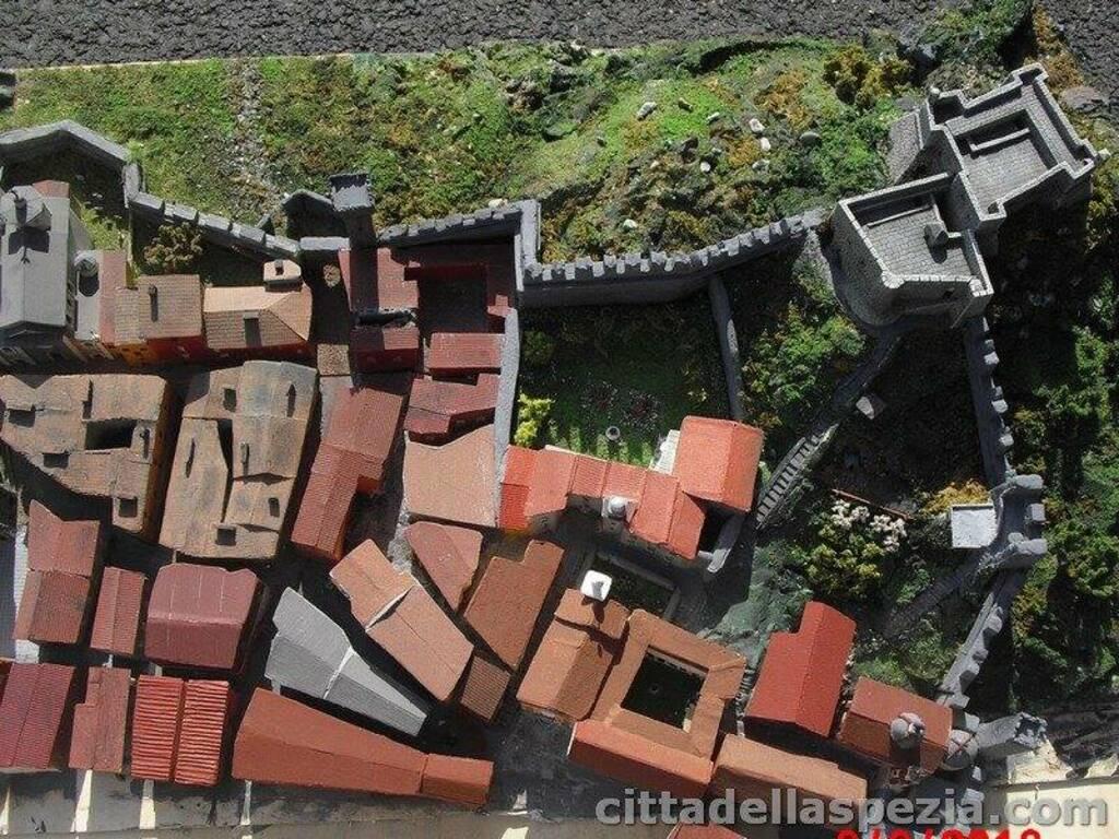 Il plastico che riproduce La Spezia nel XVIIsecolo