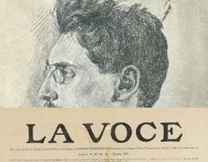 La Voce con un ritratto di Ettore Cozzani