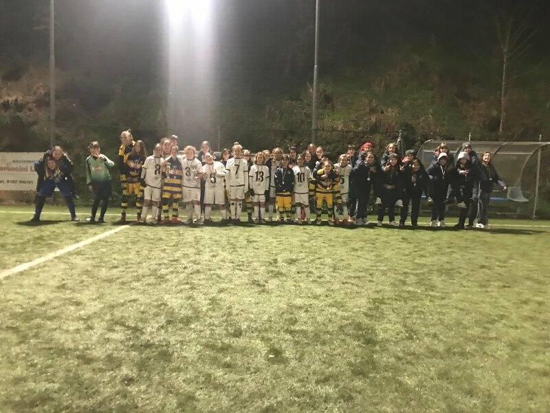 Le formazioni che si sono affrontate nella finale del torneo Under12 femminile al Trincerone.