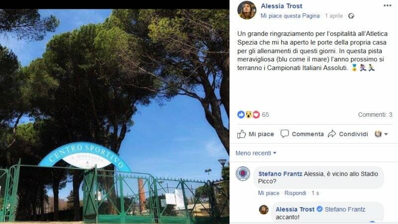 Il post di Alessia Trost