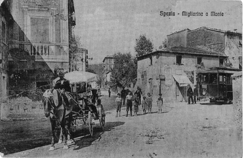 """""""Migliarina a monte"""", cartolina d'epoca"""