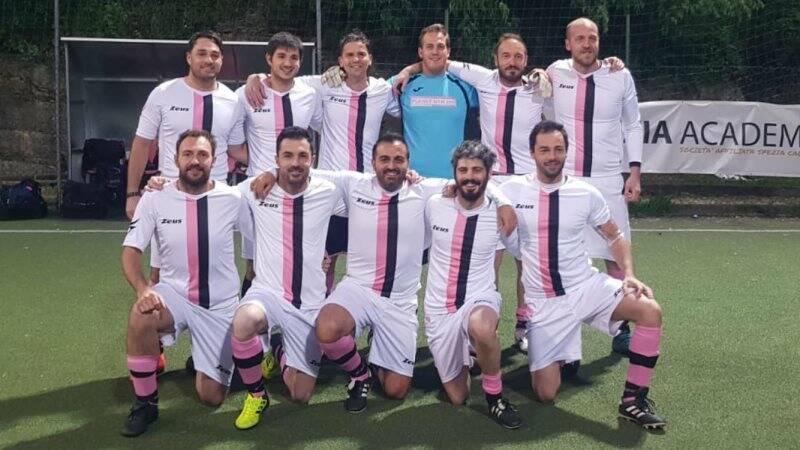 La formazione di Calcio a 7 dello Sporting Bacco.