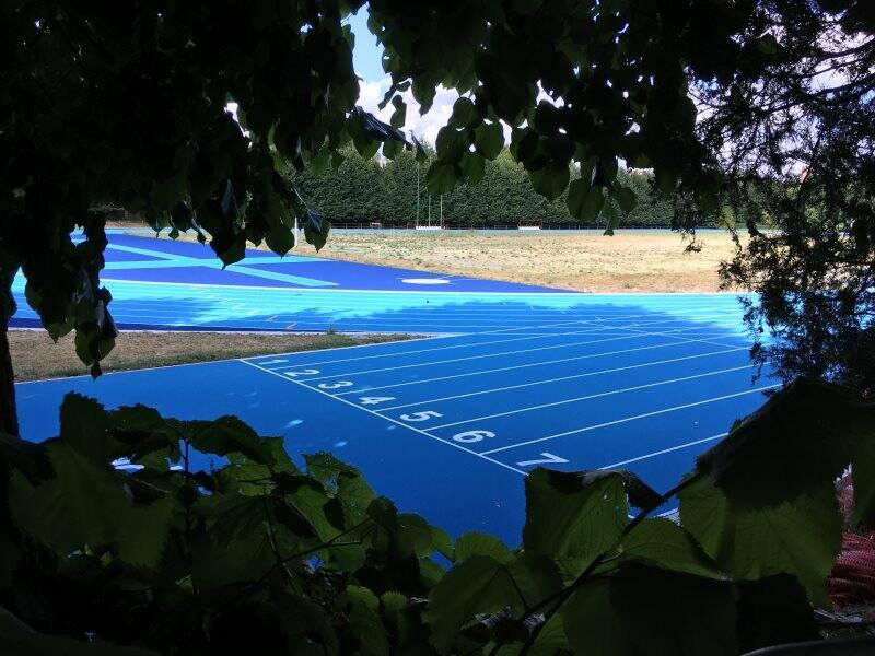La nuova pista d'atletica del Montagna