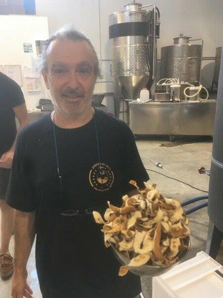 Le bucce di bergamotto utilizzate per aromatizzare la birra