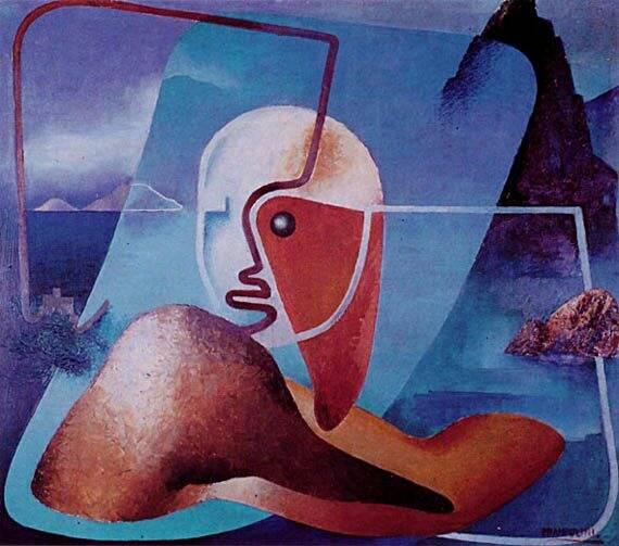 Ritratto di Marinetti, poeta del Golfo della Spezia
