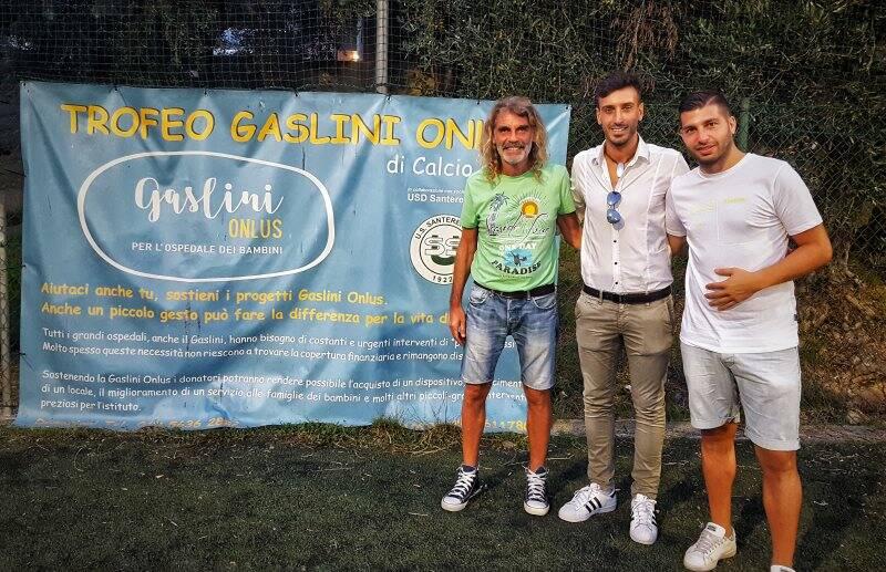 """Serata di Quarti di Finale al """"Gaslini Onlus"""" con la presenza di Cristian Bianchi della Carrarese."""