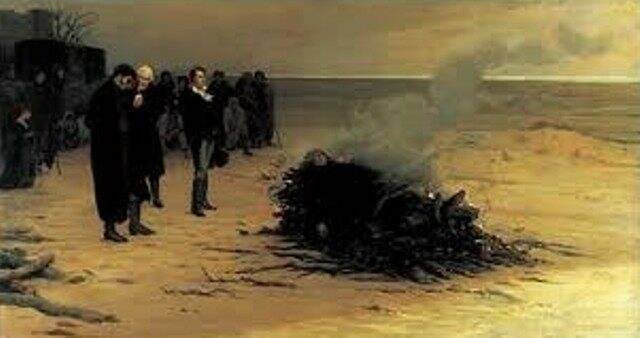 Il funerale di Percy Bisshe Shelley