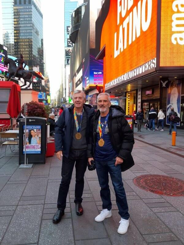 I 70enni arcolani Vasoli e Aloisi ben figurano alla Maratona di New York
