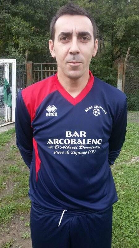 Fabio Vaccarezza con la sua nuova maglia del Real Zignago.