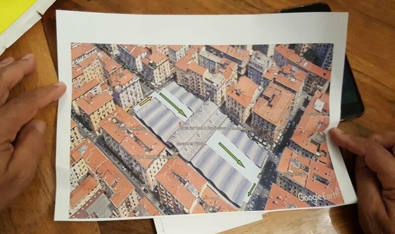 La proposta di Cesare Arioli, realizzare un parcheggio sopraelevato in Piazza Cavour