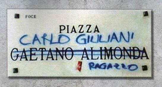 Piazza Alimonda, in memoria di Carlo Giuliani