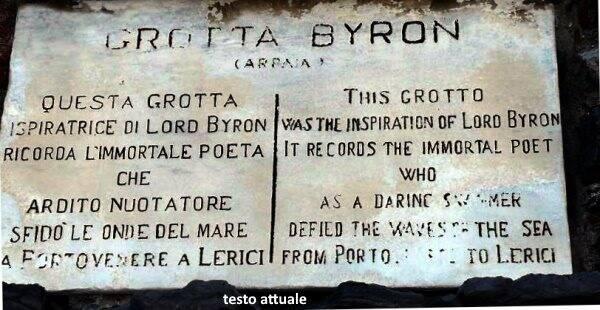La targa di grotta Byron