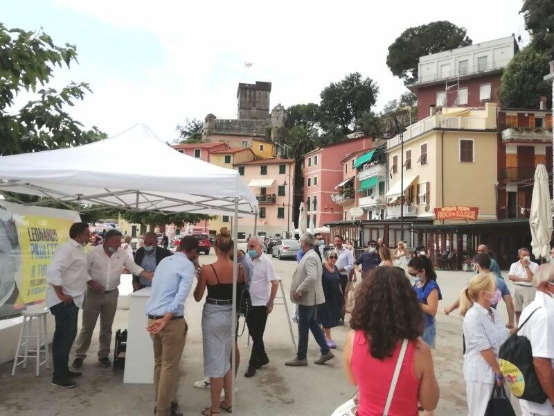 Piazza Brusacà in occasione della riapertura della Marinella