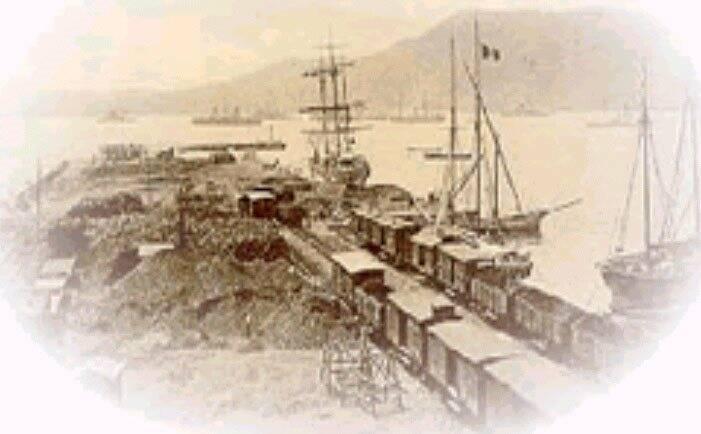 Il porto della Spezia in un'immagine d'epoca