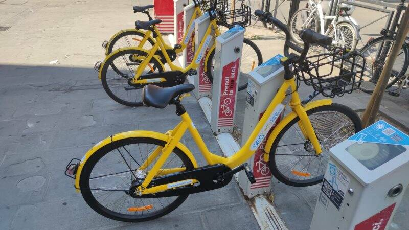 Le nuove bici gialle del bike-sharing