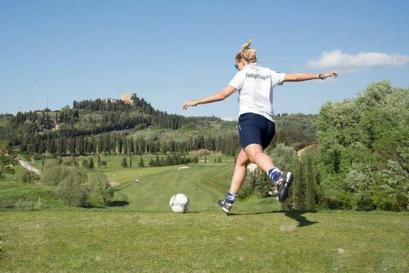 Nella foto Alessandra Bianchi nuova campionessa italiana di Footgolf