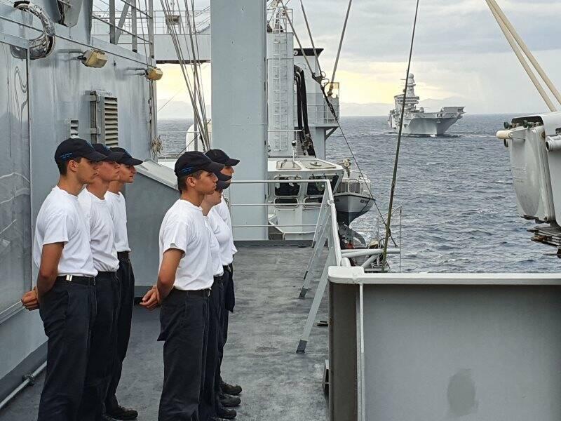 Marina militare, addestramento in mare