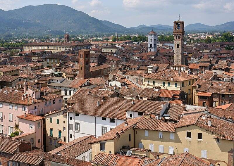Panorama di Lucca dalla Torre Guinigi