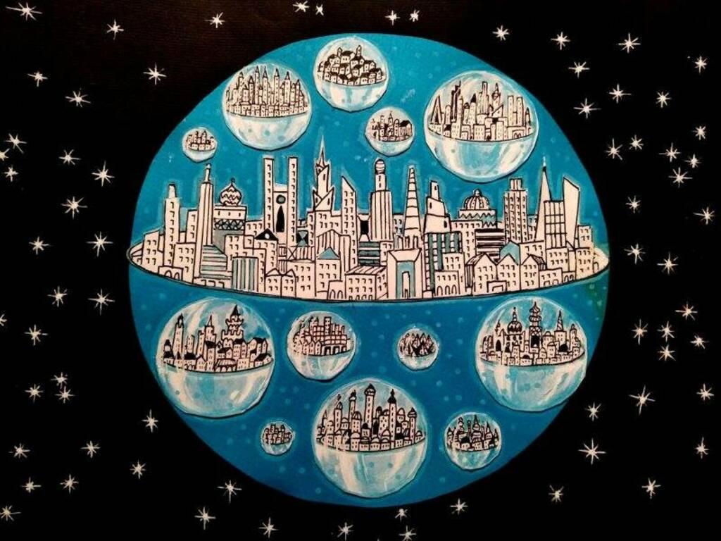 I bozzetti delle scenografie de Le città ideali di Italo Calvino. Gli ultimi lavori di Giuliano Diofili