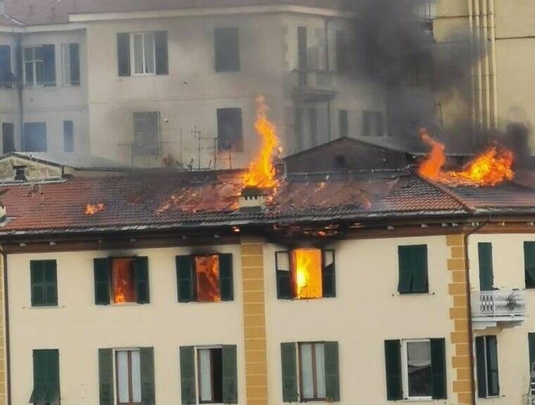 L'incendio di Scalinata Q. Sella