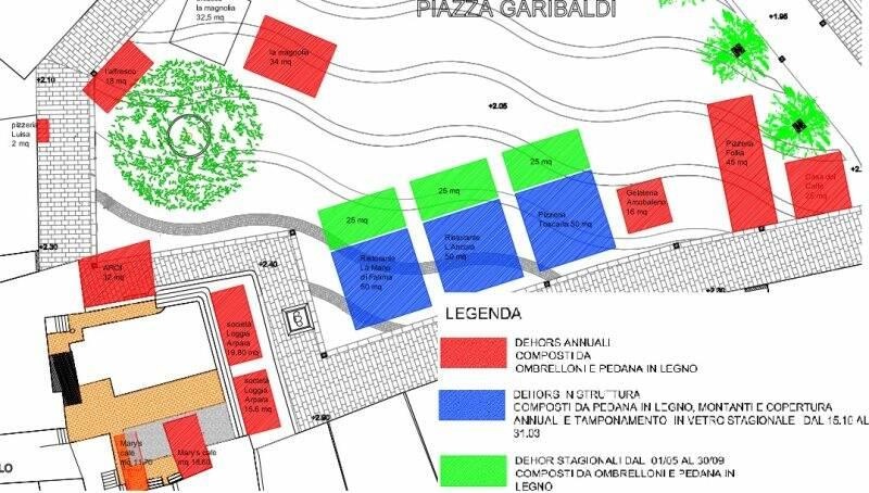 Piazza Garibaldi lato monte, il progetto accolto dal Comune