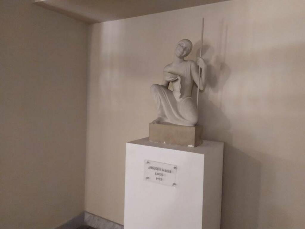 Teatro civico, la statua di Bacco di Augusto Magli