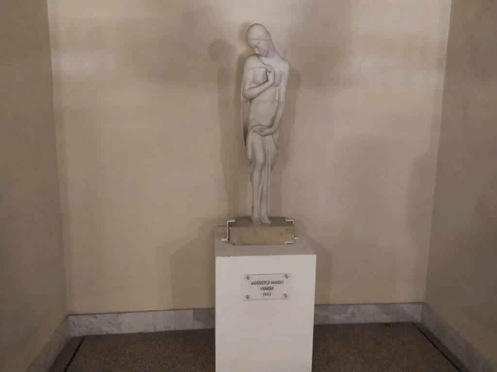 Teatro civico, la statua di Venere di Augusto Magli