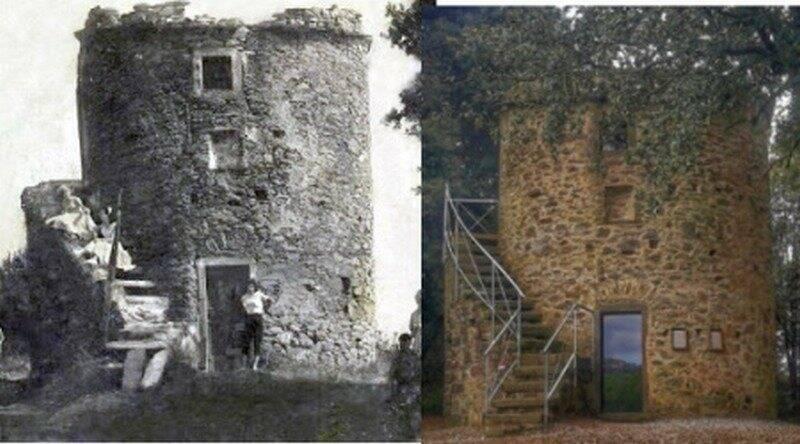 Il mulino di Campiglia prima e dopo il restauro