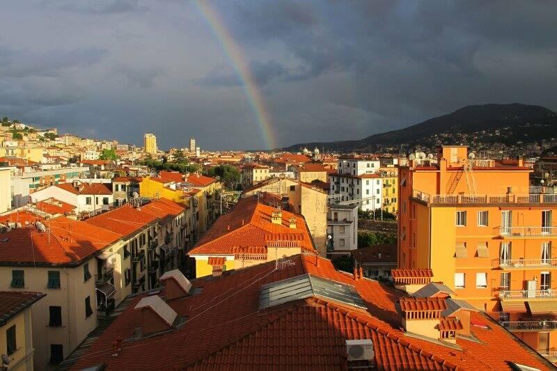 La Spezia, arcobaleno da Fossitermi (2013)