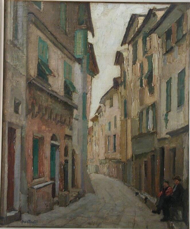 Una veduta di Porto Venere dipinta da Michel Portnoff