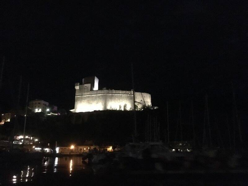 Castello di Lerici di sera
