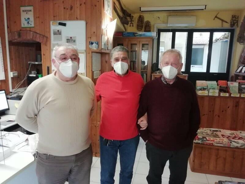 Ugo Ferri, Michele Sarcinelli e Luciano Callegari