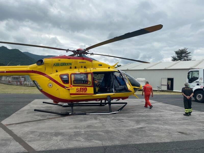 Grifo, l'elicottero del 118 ligure
